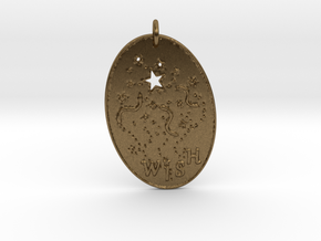 Shooting Stars Wish 1 Pendant by Gabrielle in Natural Bronze