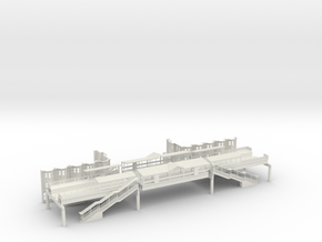WEST PHILA MARKET ST EL STA Block N Scale  in White Natural Versatile Plastic