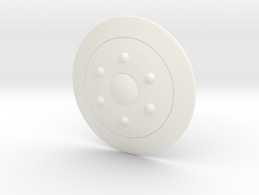 1/6 Cartoon Shield of the Royal Guard in White Processed Versatile Plastic