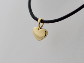 Little Big Heart - Pendant in Polished Brass