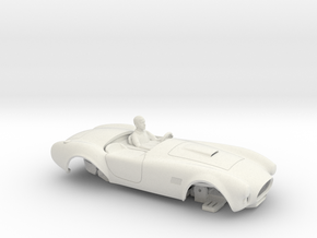 NEW! HO 427 Unibody Prototype with Chassis in White Natural Versatile Plastic