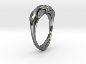 Heartring Size 7 in Polished Silver