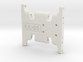 SCX10 Ultra Skid Plate in White Strong & Flexible