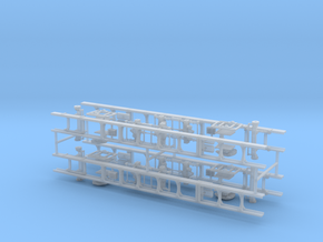 1/64th Universal Truck Frame kit, set of 4 in Smooth Fine Detail Plastic