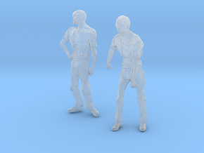 1-24 Male Zombie Set2 in Smooth Fine Detail Plastic
