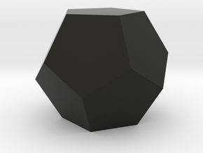 Dodecahedron in Black Natural Versatile Plastic