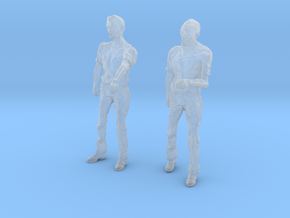 1-24 Male Zombie Set3 in Smooth Fine Detail Plastic
