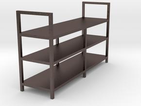 Garage Shelf - 1/24 in Polished Bronzed Silver Steel