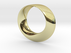 Mobius Strip Pendant in 18k Gold Plated Brass