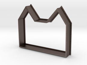 Cookie Cutter Mansion in Polished Bronzed Silver Steel