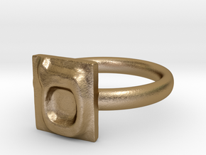 15 Samekh Ring in Polished Gold Steel: 7 / 54