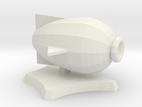 Puffer, miniature airship in White Strong & Flexible