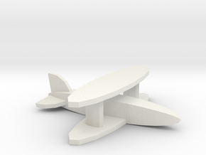 Fighter biplane in White Natural Versatile Plastic