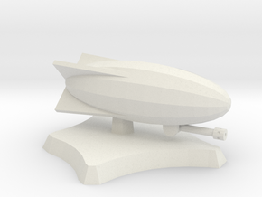 Snipper airship in White Natural Versatile Plastic