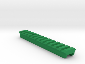 P90 Picatinny Side Rail in Green Processed Versatile Plastic