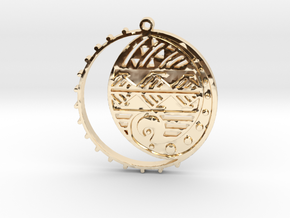 Changing Tides in 14k Gold Plated Brass