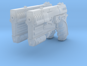 1/6 Sci-Fi Game Pistol 2X in Frosted Ultra Detail