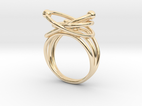 Atomic Model Ring - Science Jewelry in 14K Yellow Gold: 5.5 / 50.25