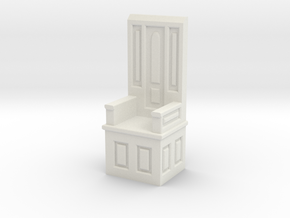 Gothic Chair IV in White Natural Versatile Plastic