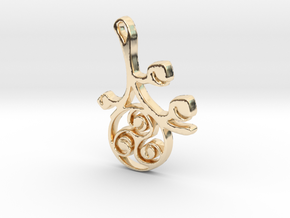 Earthly Spring Triskele by ~M. in 14K Yellow Gold