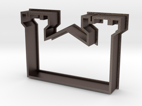 Cookie Cutter Castle in Polished Bronzed Silver Steel