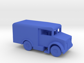 1/200 Scale Bedford MW Ambulance in Blue Strong & Flexible Polished