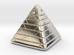 Pyramide Enlighted in Rhodium Plated Brass