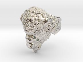 Bison Head Ring in Platinum: 11.5 / 65.25