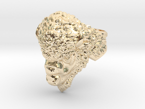 Bison Head Ring in 14k Gold Plated Brass: 11.5 / 65.25