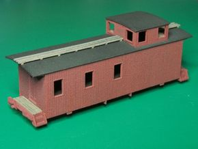 HOn3 30ft Caboose D in White Strong & Flexible