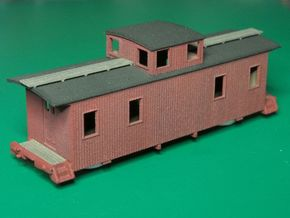 HOn3 30ft Caboose C in White Strong & Flexible