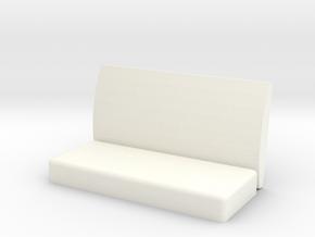 Virginia & Truckee Coach Bench Left Arm Rest in White Processed Versatile Plastic