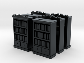 Mansions of Madness: Bookcase Barricades in Black Hi-Def Acrylate