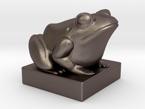 Kek - 4D Chess piece in Polished Bronzed Silver Steel