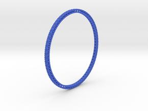 "Bangle simple ""diamonds"" in Blue Processed Versatile Plastic"