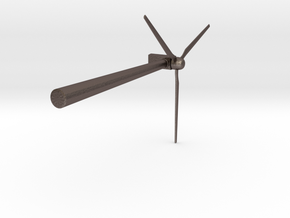 Wind 450KW Turbine in Polished Bronzed Silver Steel: Large
