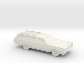 1/87 1966 Mercury Monterey Station Wagon in White Natural Versatile Plastic