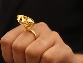 The Matrix Ring in 18k Gold Plated Brass: 5.25 / 49.625