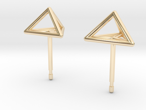Triangle Stud Earrings in 14K Yellow Gold