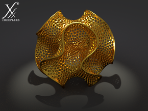 Sphero-gyroid in Polished Gold Steel