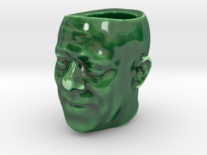 Espresso Cup - Shrunken Head in Gloss Oribe Green Porcelain