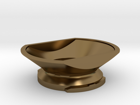Boundless CF/CFX Filling Funnel in Polished Bronze: Small