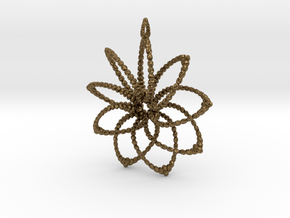 Cluster Funk 9 Points - 5cm, Loopet in Natural Bronze