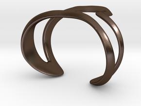 Mind generated bracelet - my idea of art in Polished Bronze Steel: Large