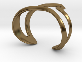 Mind generated bracelet - my idea of art in Polished Bronze: Large