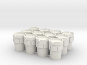 12 Overpacks, 95 Gallon, Standard, 1/64 in White Natural Versatile Plastic