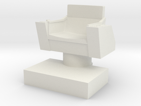 Captain's Chair, 28mm Scale in White Strong & Flexible