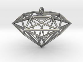 Diamond Ornament in Natural Silver