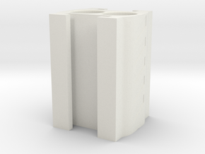 NerfUnderbarrelAttach+DoubleDartClip in White Natural Versatile Plastic