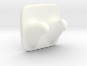Harry's Horns in White Processed Versatile Plastic